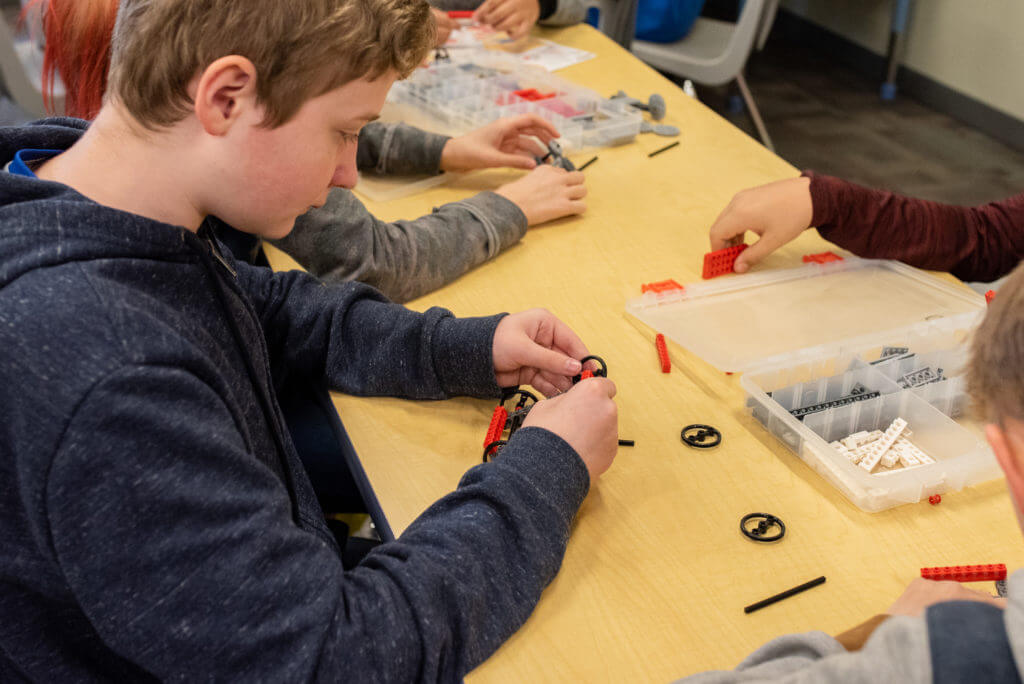 Students explore engineering with LEGO Technic bricks in our STEM & Creativity Summer Camps.