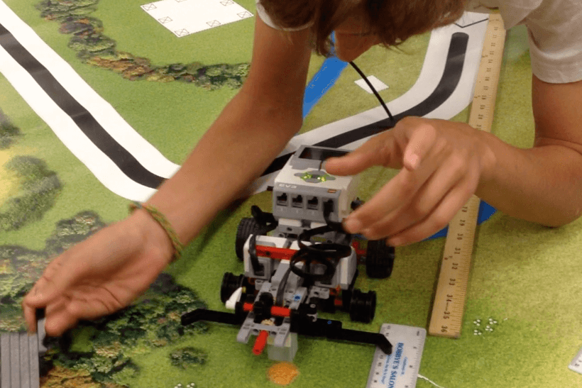 Students Program LEGO Mindstorms robots in our STEM & Creativity Summer Camps.